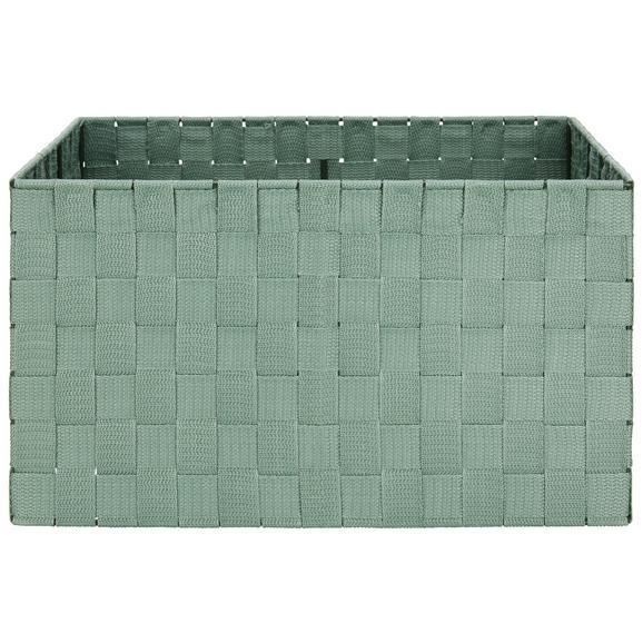 Košara Charlotte - zeleni žad, kovina/umetna masa (37,5/27,5/20,5cm) - Mömax modern living