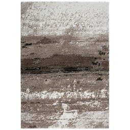 Webteppich Topas, ca. 133x190cm. - Hellgrau/Braun, MODERN (133/190cm)