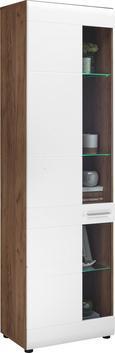 Vitrina Avensis - aluminij/črna, Moderno, umetna masa/steklo (60/205,7/37,1cm) - Mömax modern living
