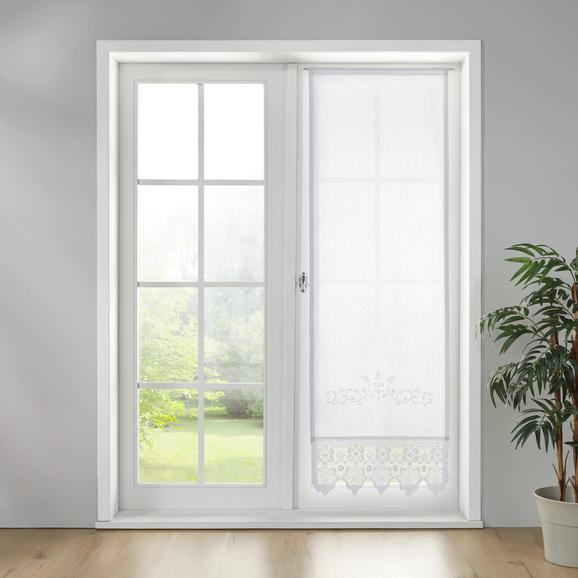 Gardine in Weiß ca. 60x180 cm 'Margret' - Weiß, MODERN, Textil (60/180cm) - Bessagi Home