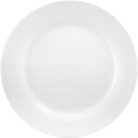 Farfurie Întinsă Adria - alb, Konventionell, ceramică (27cm) - Modern Living