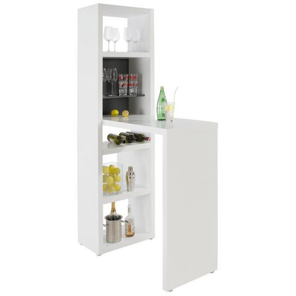 Masă Bar Space - alb/grafit, Modern, compozit lemnos (59/202/115cm) - Modern Living