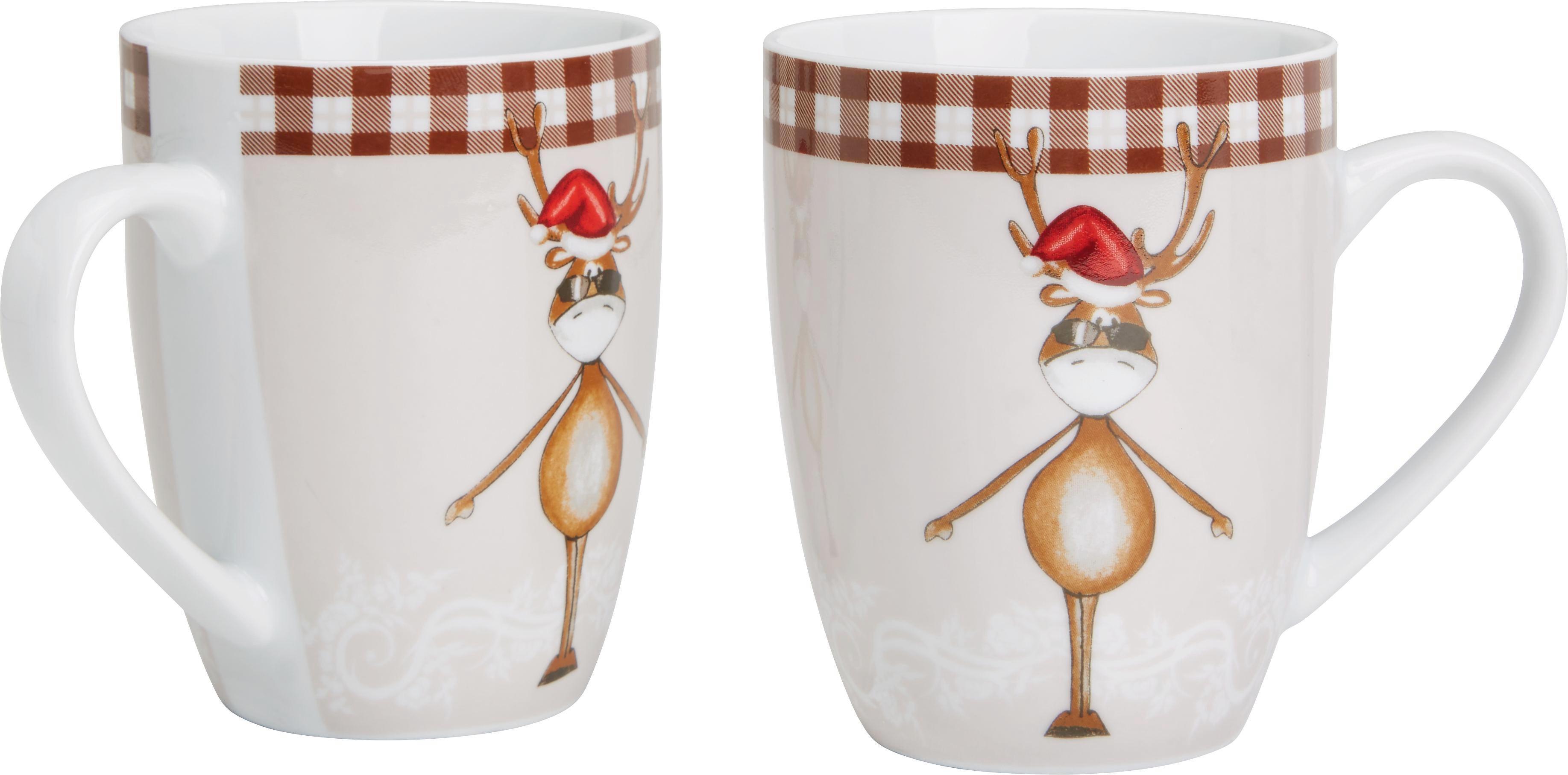 Kaffeebecher Maddy 2-er Set - Multicolor, KONVENTIONELL, Keramik (8,4/10,4cm) - MÖMAX modern living