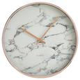 Uhr Priya ca.ø30,4cm - Weiß/Grau, MODERN, Glas/Kunststoff (30,4cm) - Mömax modern living