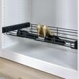 Schuhablage aus Metall in Anthrazit - Anthrazit, MODERN, Metall (82,5/14/46,2cm) - Based