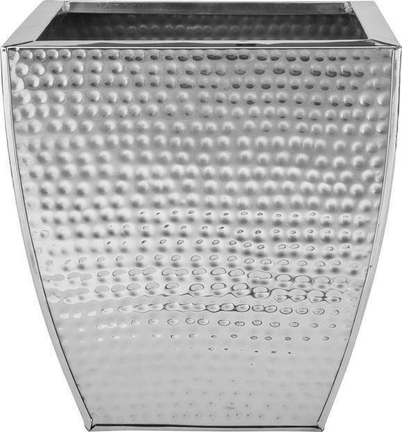 Übertopf Surabi aus Edelstahlfarben - Edelstahlfarben, LIFESTYLE, Metall (26/26/28cm) - Mömax modern living