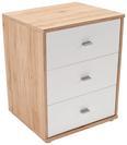 Nočna Omarica 4-you New - bela/hrast, Konvencionalno, umetna masa/leseni material (50/54,8/34,6cm) - Mömax modern living