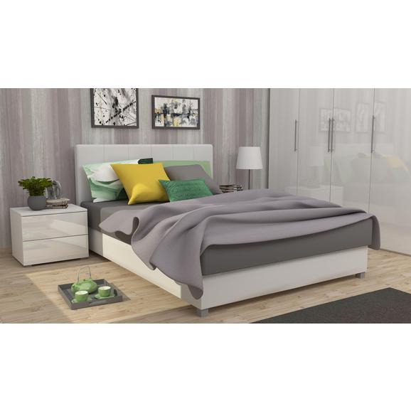 Tapecirani Krevet Super Soft - bijela/siva, Modern, drvni materijal/tekstil (150/210/100cm)