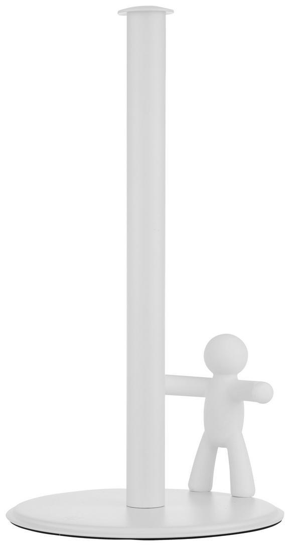 Küchenrollenhalter Ute in Weiß - Weiß, MODERN, Kunststoff/Metall (18,2/33,7cm) - Premium Living