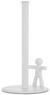 Küchenrollenhalter Ute Weiß - Weiß, MODERN, Kunststoff/Metall (18,2/33,7cm) - Premium Living