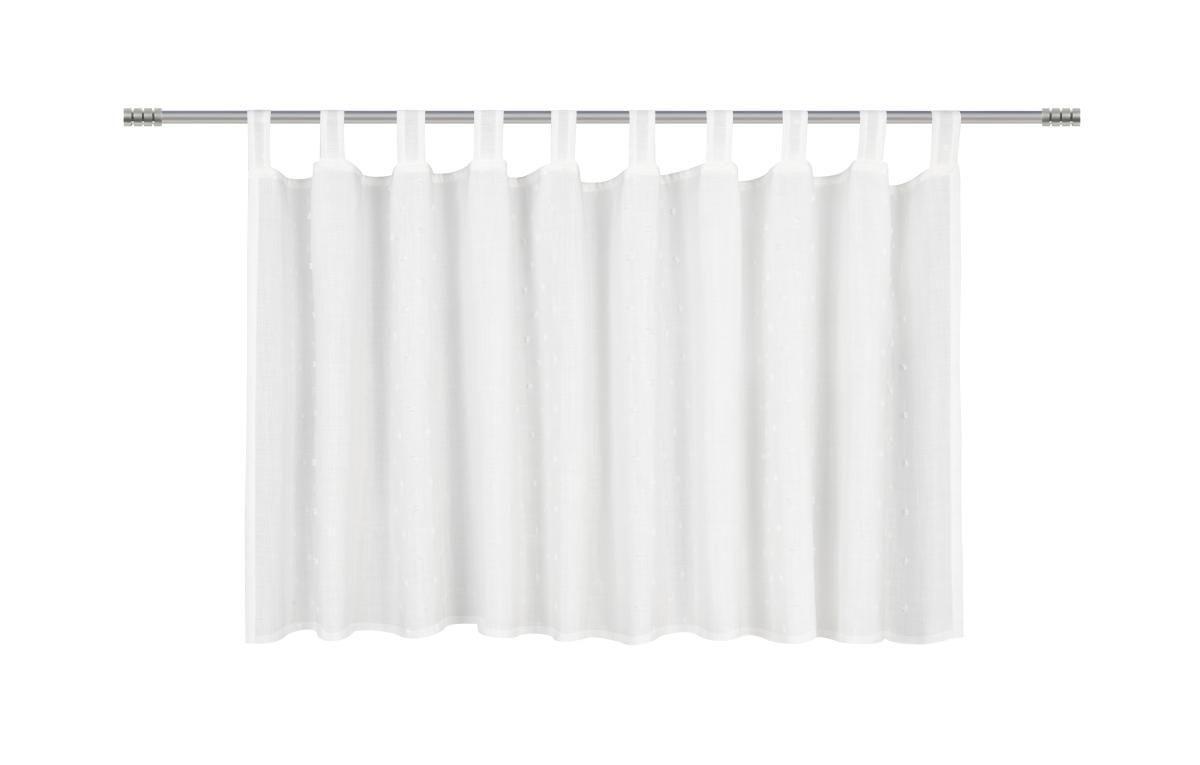 Kratka Zavesa Marie - bela, Romantika, tekstil (150/50cm) - premium living
