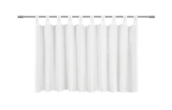 Kurzgardine Marie Weiß, ca. 150/50cm - Weiß, ROMANTIK / LANDHAUS, Textil (150/50cm) - Premium Living
