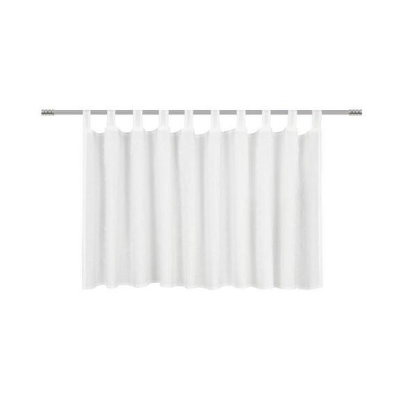 Vitrázsfüggöny Marie - Fehér, romantikus/Landhaus, Textil (150/50cm) - Premium Living
