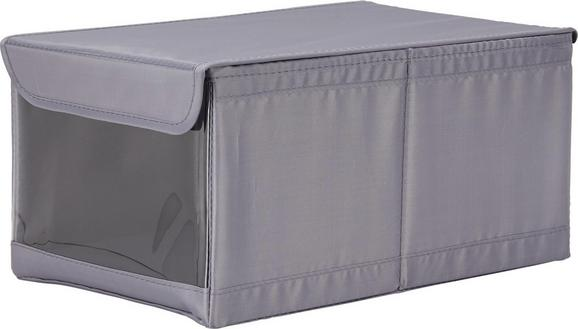 Aufbewahrungsbox Kläck in Grau mit Deckel - Grau, Kunststoff (34/22/16cm) - Mömax modern living