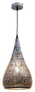 Hängeleuchte Kario, max. 60 Watt - Silberfarben/Schwarz, LIFESTYLE, Kunststoff/Metall (22/146cm) - MÖMAX modern living