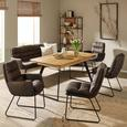 Stuhl in Grau - Schwarz/Grau, MODERN, Textil/Metall (47/91/69cm) - Mömax modern living