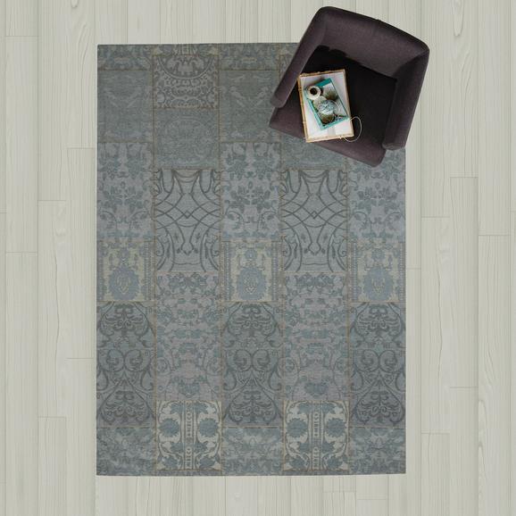 Teppich Amaira 160x230 cm - Blau, MODERN, Textil (160/230cm)