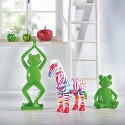 Dekofrosch Froggy - Grün, LIFESTYLE, Kunststoff (34/33/42cm) - PREMIUM LIVING