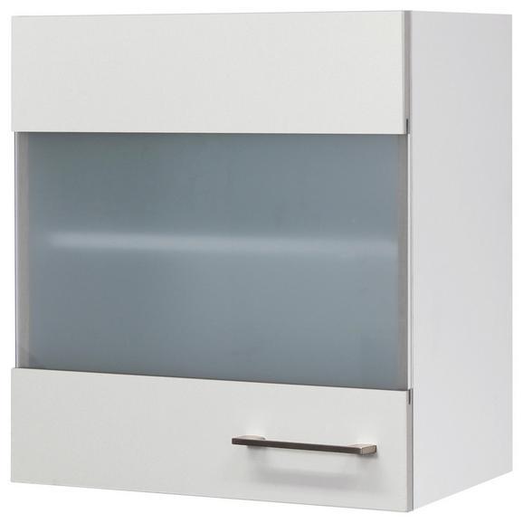 Küchenoberschrank Weiß - Edelstahlfarben/Weiß, MODERN, Holzwerkstoff/Metall (50/54/32cm)