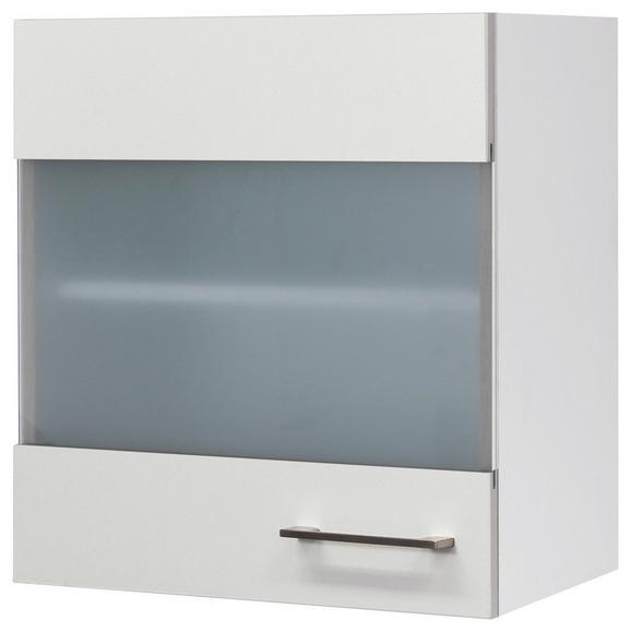 Kuhinjska Zgornja Omarica Neo - bela/nerjaveče jeklo, Moderno, kovina/leseni material (50/54/32cm)