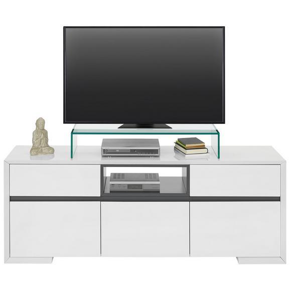 Lowboard in Weiß Hochglanz - Weiß/Grau, Holzwerkstoff (150/56/40cm) - Modern Living