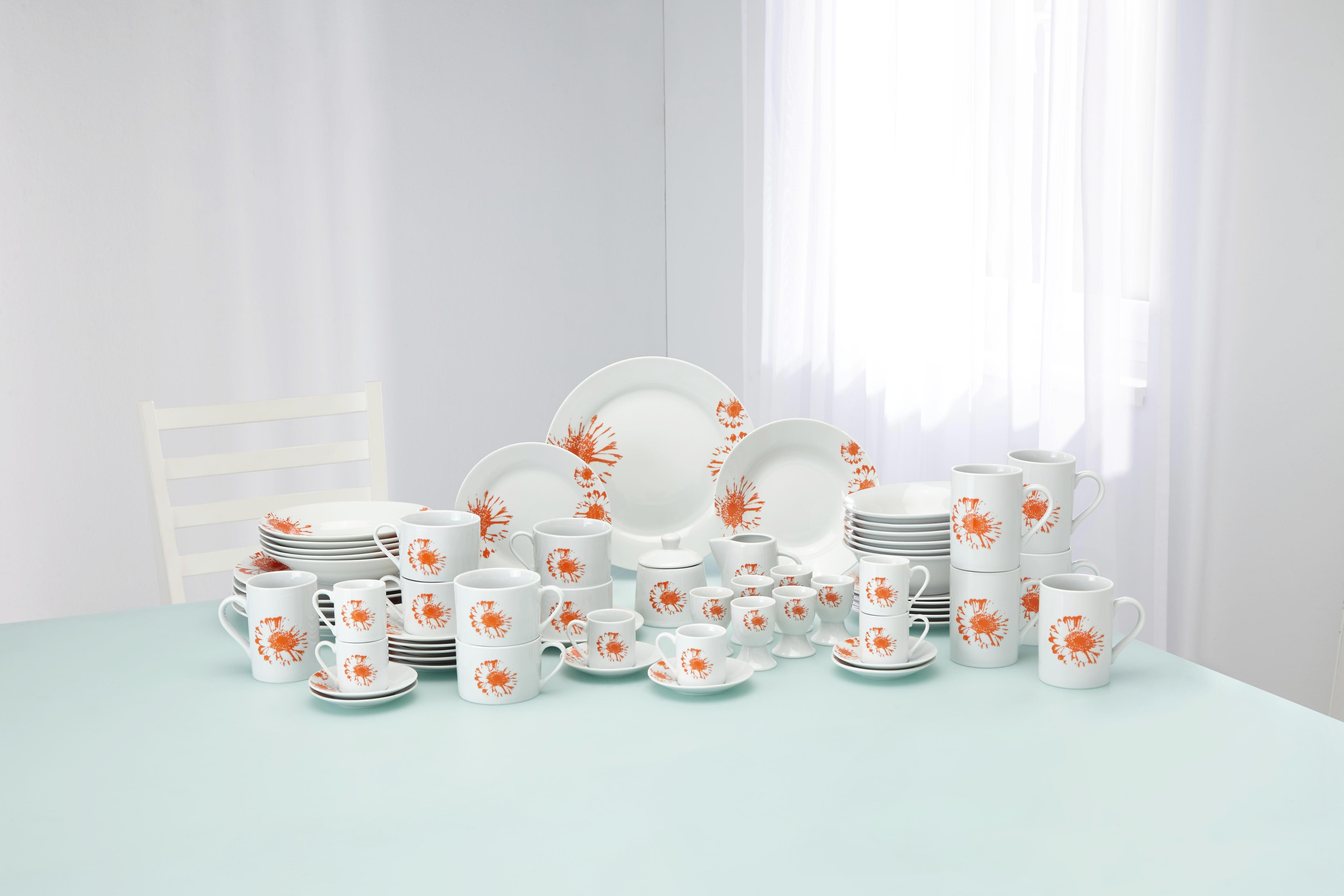 Étkészlet Gabi - narancs/fehér, kerámia - MÖMAX modern living