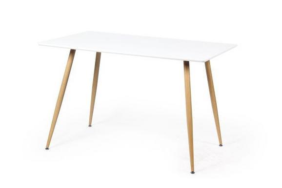 Étkezőasztal Sven 120 - Tölgyfa/Fehér, modern, Faalapú anyag/Fém (120/76/80cm)