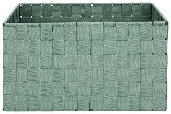 Košara Charlotte - zeleni žad, kovina/umetna masa (33,5/23,5/18cm) - Mömax modern living