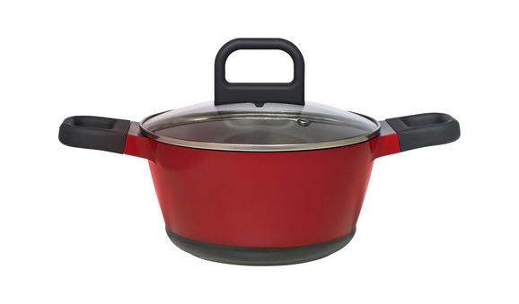 Lonec Za Zelenjavo Desiree - rdeča/črna, Moderno, kovina/umetna masa (20/10,5cm) - Mömax modern living