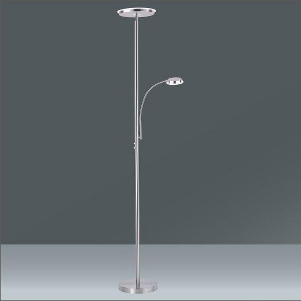 LED-Stehleuchte Hans in Nickel, max. 22 Watt