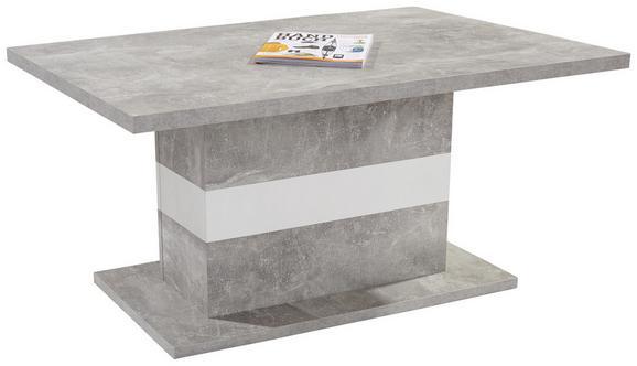 Dohányzóasztal Mali - fehér/szürke, modern (110/49/67cm)