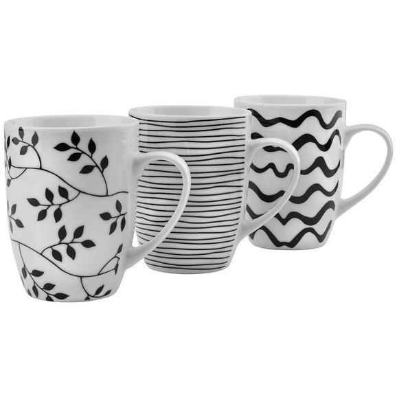 Lonček Za Kavo Marvi - črna/bela, keramika (8,3/10,5cm) - Mömax modern living