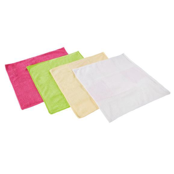 Mikrofasertuch 4er Set in versch. Farben - Orange/Rosa, Textil (35/35cm) - Mömax modern living