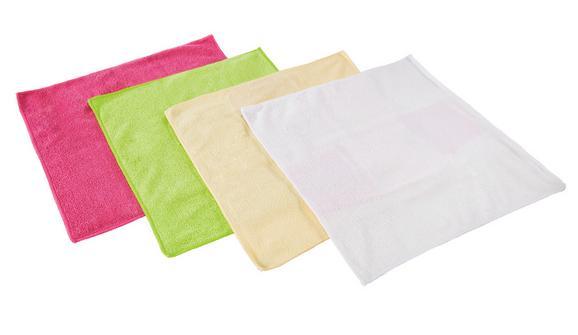 Mikroszálas Kendő 4db/ Szett - Rózsaszín/Zöld, Textil (35/35cm) - Mömax modern living