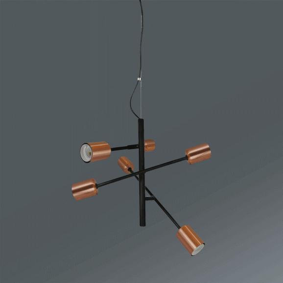 Viseča Svetilka Kuno - črna/baker, Trendi, kovina (55/149cm) - Mömax modern living