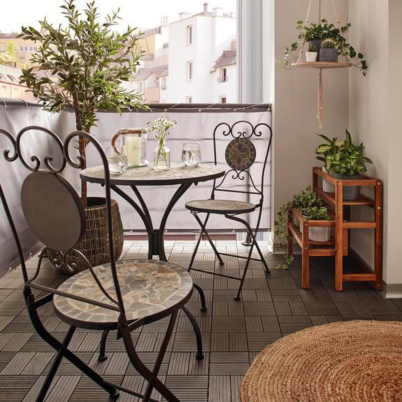 Balkon Szett Grace - Színes/Fekete, modern, Kő/Fém (60/36/70/90/60/36cm) - Mömax modern living