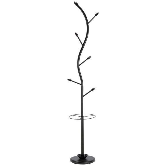 Kleiderständer Schwarz Kautschukholz - Schwarz, MODERN, Holz/Metall (28/180/28cm) - Mömax modern living