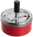 Aschenbecher Micha verschiedene Farben - Rot/Schwarz, KONVENTIONELL, Metall (60/40/123cm) - Mömax modern living