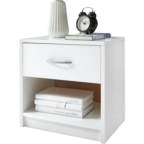Nočna Omarica Pepe - aluminij/bela, Basics, umetna masa/leseni material (39/41/28cm) - Mömax modern living