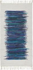 Fleckerlteppich Verena in Blau, ca. 80x150cm - Blau, LIFESTYLE, Textil (80/150cm) - MÖMAX modern living