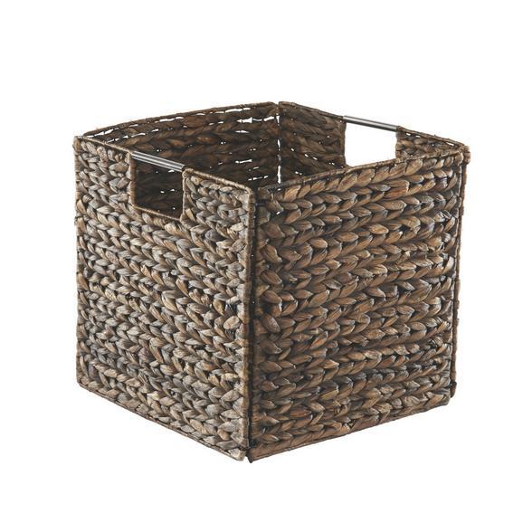 Košara Za Regal Anna - rjava, Trendi, kovina/naravni materiali (33/32/33cm) - Zandiara