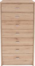 Komoda 4-you - bela/krom, umetna masa/leseni material (50/111,4/34,6cm) - Mömax modern living