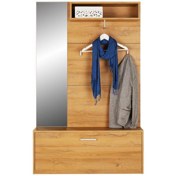 Garderobe Eichefarben - Eichefarben/Schwarz, KONVENTIONELL, Holzwerkstoff (100/160/26cm) - Mömax modern living
