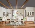 Highboard Weiß Echtholz - Weiß, ROMANTIK / LANDHAUS, Glas/Holz (105/150/45cm) - Zandiara