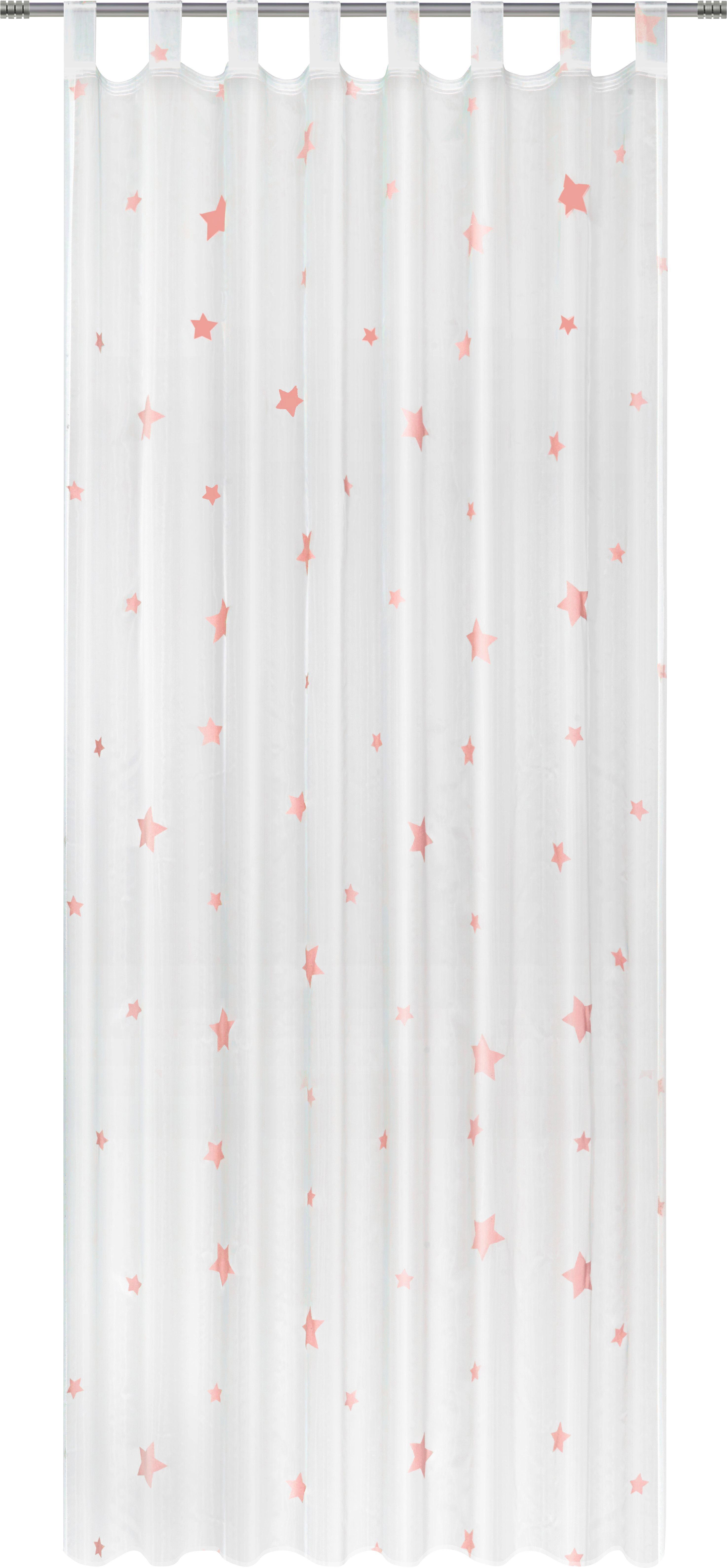 Schlaufenschal Claudia, ca. 140x245cm - Pink/Weiß, ROMANTIK / LANDHAUS, Textil (140/245cm) - MÖMAX modern living