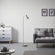 Stehleuchte max. 40 Watt 'Illya' - Grau, MODERN, Metall (24/25/142cm) - Bessagi Home
