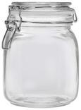 Einmachglas Nele aus Glas ca. 1000ml - Klar, Glas/Metall (1l) - Mömax modern living