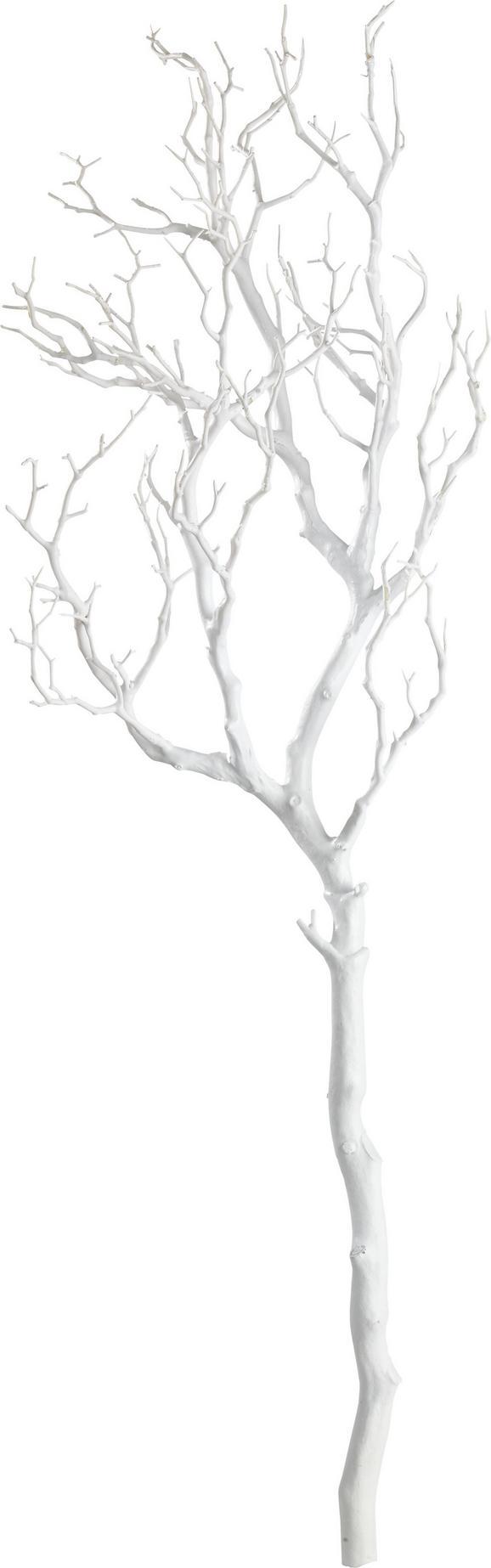 Dekozweig Sam Weiß - Weiß, Kunststoff (97cm) - Mömax modern living