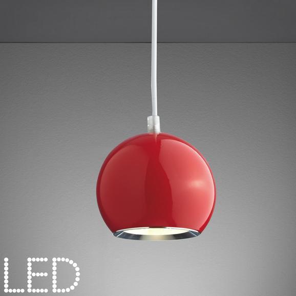 LED-Hängeleuchte Elliot - Rot, MODERN, Glas/Metall (12/180cm) - MÖMAX modern living