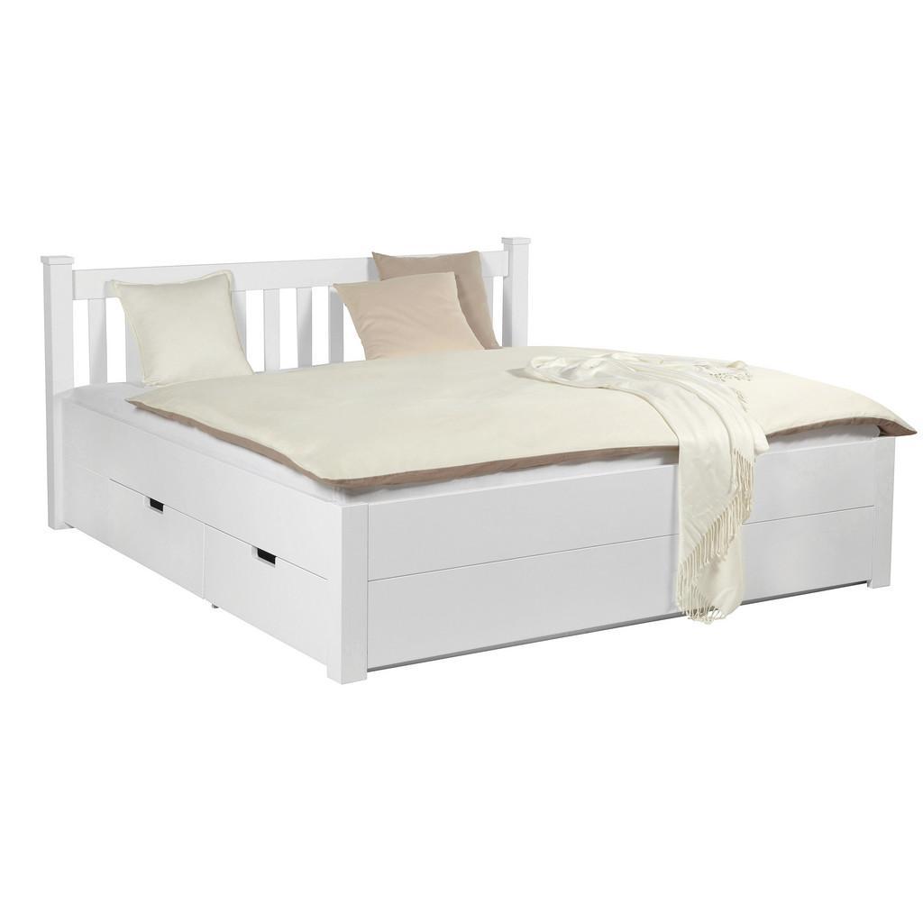 Bett in Weiß ca. 140x200cm